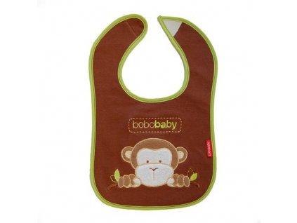 Dětský bryndák neprotekoucí hnědá opička Bobobaby