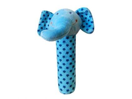 Bobobaby plyšové pískátko ZW-5 modrý sloník