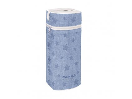Termoobal na kojeneckou láhev Jumbo Denim Style Stars blue Ceba