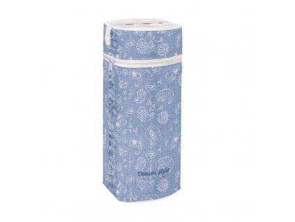 Termoobal na kojeneckou láhev Jumbo Denim Style Boho blue Ceba