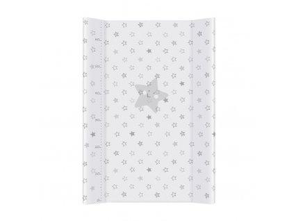 Ceba Baby Podložka přebalovací měkká 70 cm Hvězdy šedá