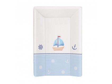 Přebalovací podložka měkká 3 hran. 70 cm Námořník bílo-modrá