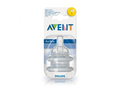 Dudlík airflex 1 otvor 2ks Avent