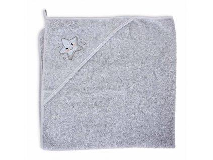 Ručník s kapucí Star 100x100 Ceba Baby