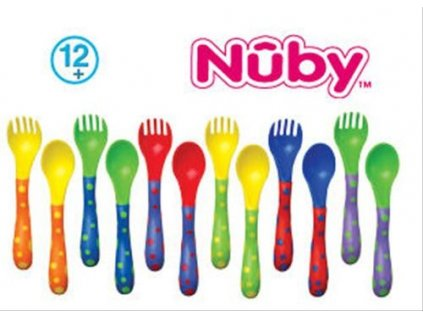 příbor vidlička a lžička Nuby barevný