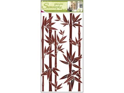 Samolepky na zeď bambus hnědý 60x32cm