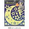 Pokojová dekorace svítící ve tmě víla s hvězdičkami 31x29cm Anděl