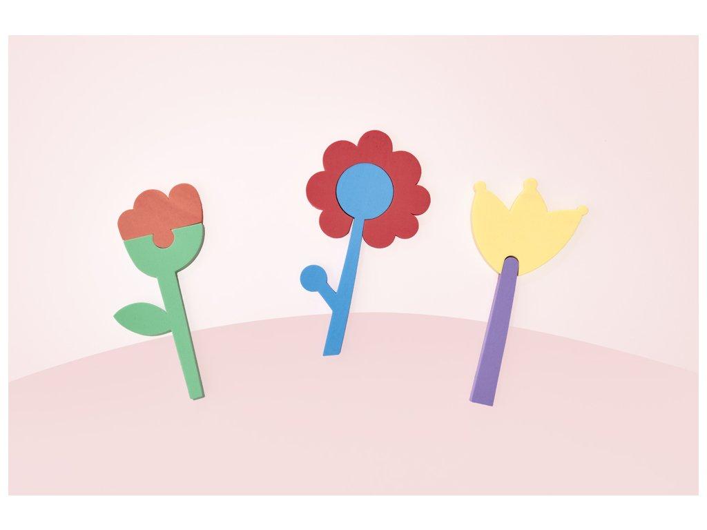 Vodolepky do vany Květiny