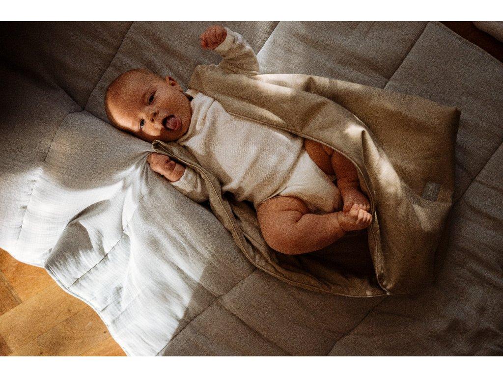 Spací pytel new born 0 6 měsíců Taupe D0665