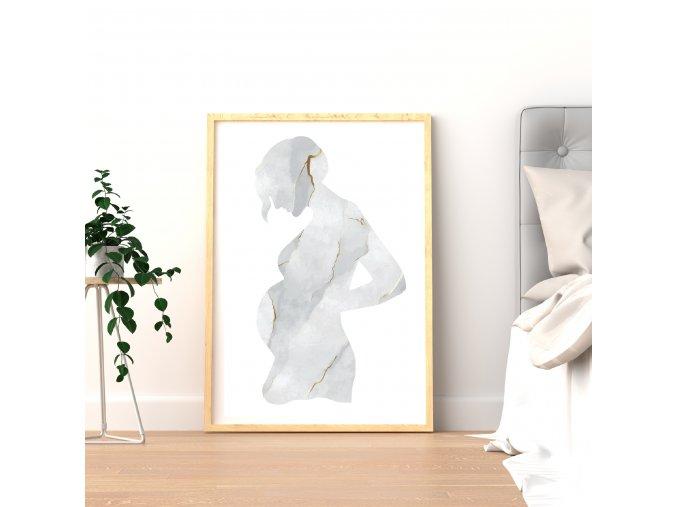 Umělecký plakát z těhotenské fotky