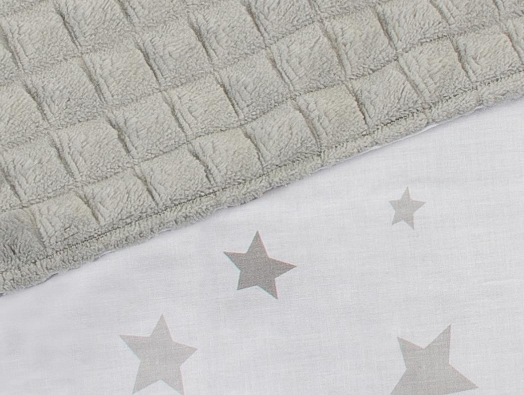 Minky šedá + hvězdičky bílá