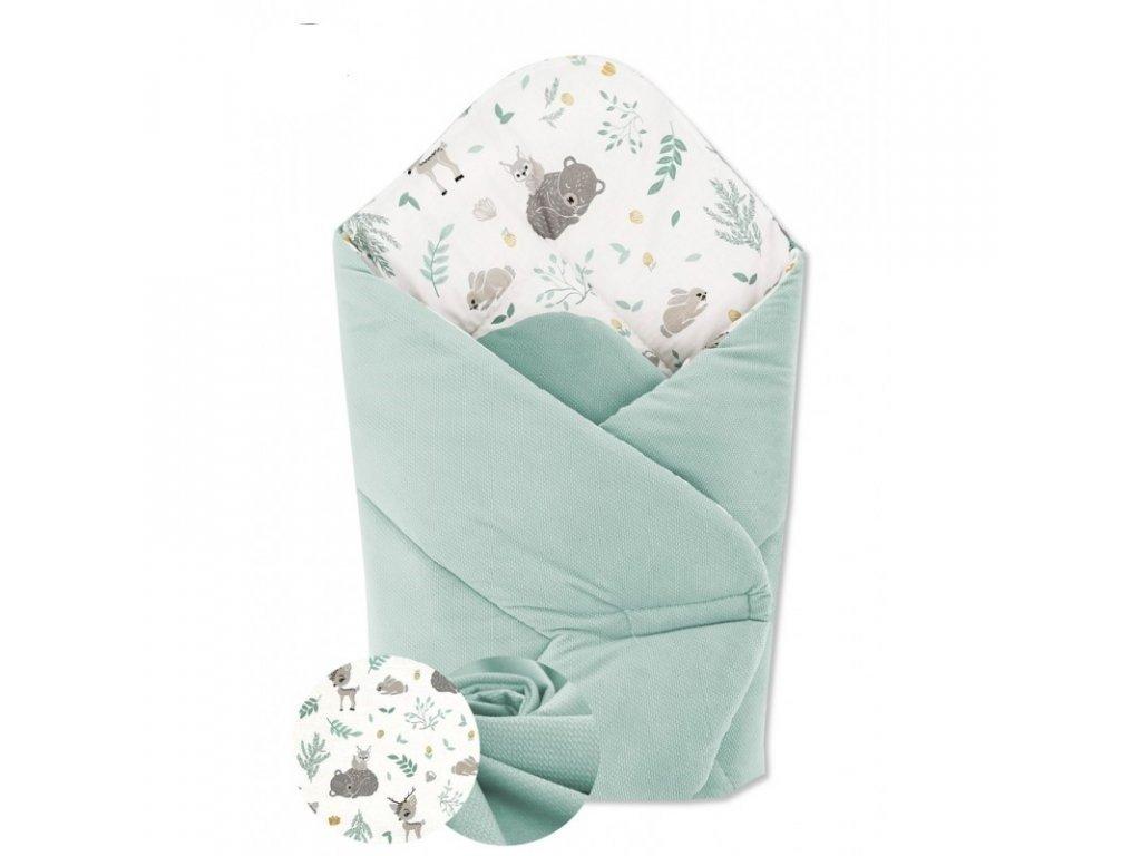 miminu zavinovačka rychlozavinovačka na suchý zip velvet zelená mentolová mint přátelé lesa pro chlapečka pro holčičku univerzální neutrální