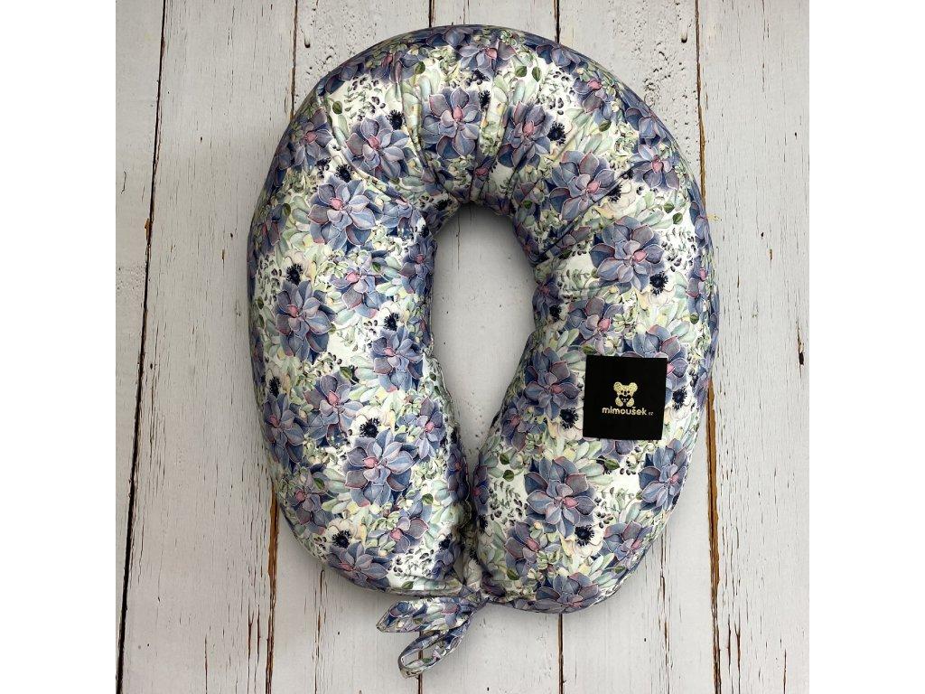 Kojící polštář MAXI limited purple flowers