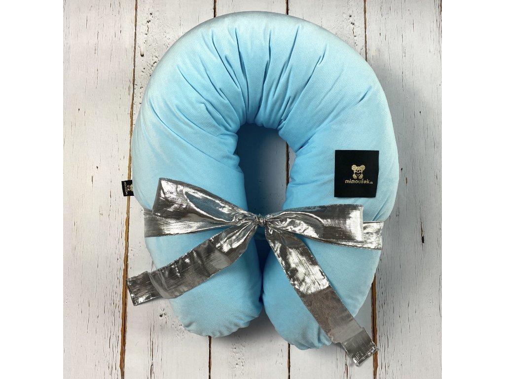 polštář na kojení velvet modrá
