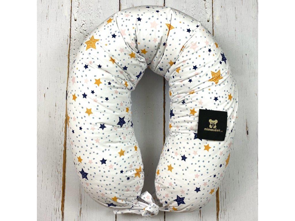 Kojící polštář MAXI printed barevné hvězdy