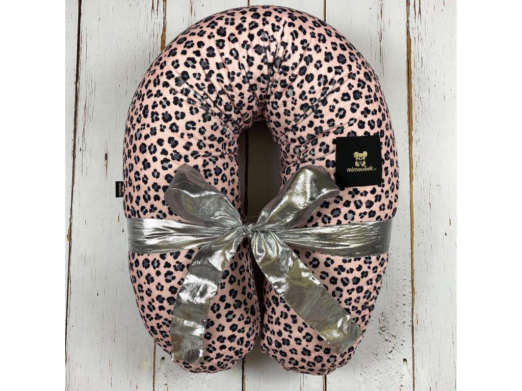 Kojící polštář MAXI De Lux pink leopard
