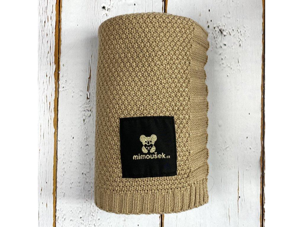 Mimoušek pletená deka béžová