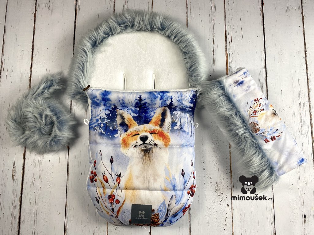 Zimní fusak Mimoušek liška set