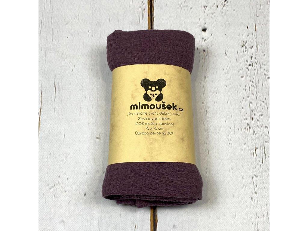 Mušelínová deka/plena hroznový koktejl