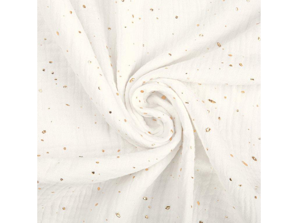 mušelín bílá tečky