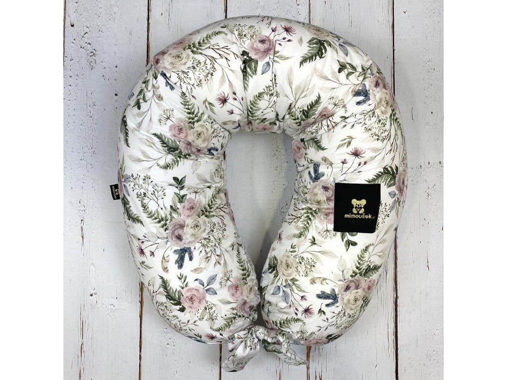Kojící polštář MAXI printed růže