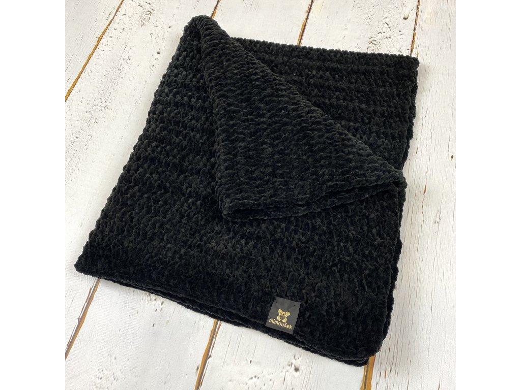 Mimoušek háčkovaná deka černá