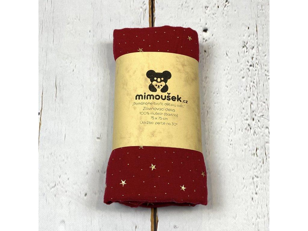 Mušelínová deka/plena chilli pepper hvězdy