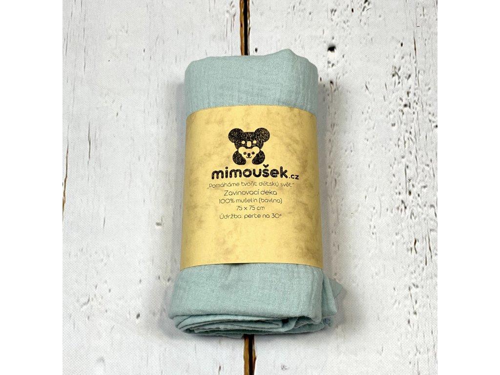 Mušelínová deka/plena pastelová modrá