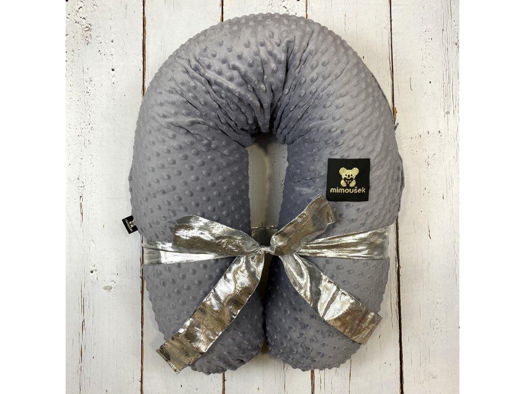 Kojící polštář MAXI šedý