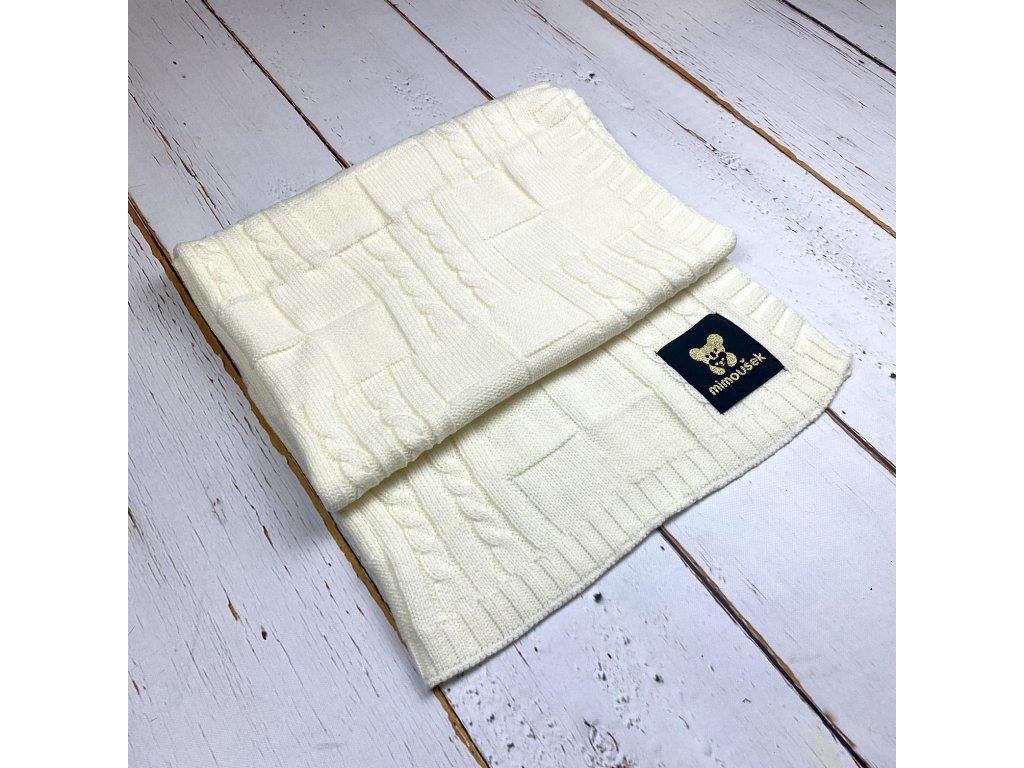Mimoušek pletená deka vzor 1 smetanová