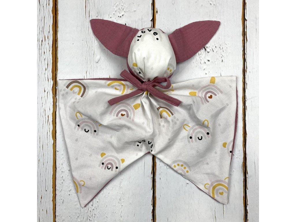 Usínáček Mimoušek králíček duha