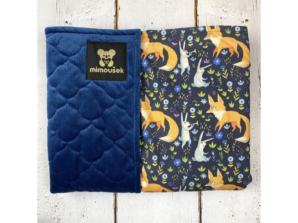 Deka Mimoušek KING liška na tmavě modré 1
