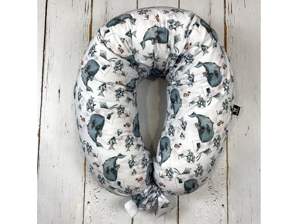 Kojící polštář MAXI printed velryba