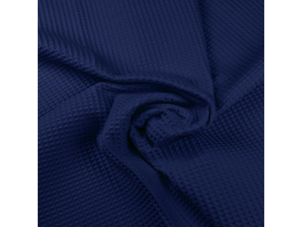 Látka vafle bavlněná královská modrá