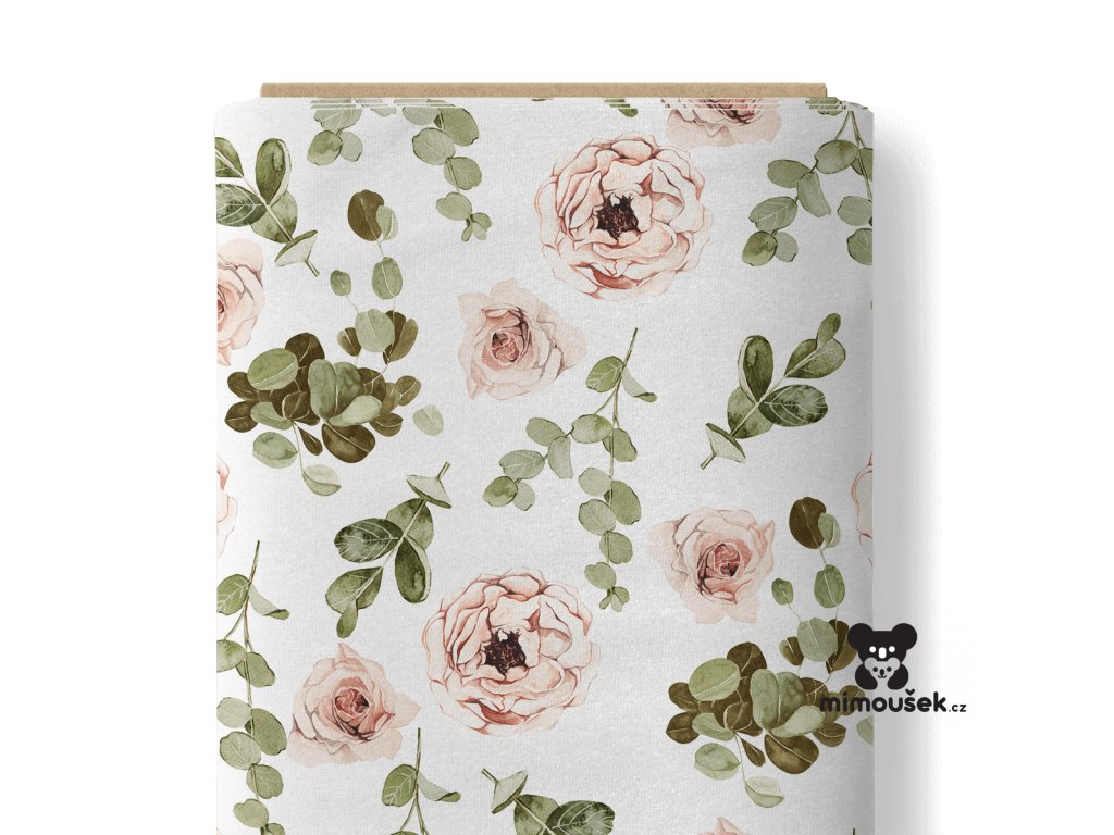 růže a eucalyptus