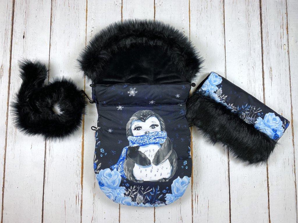 Zimní fusak Mimoušek tučňák set  + doprava zdarma