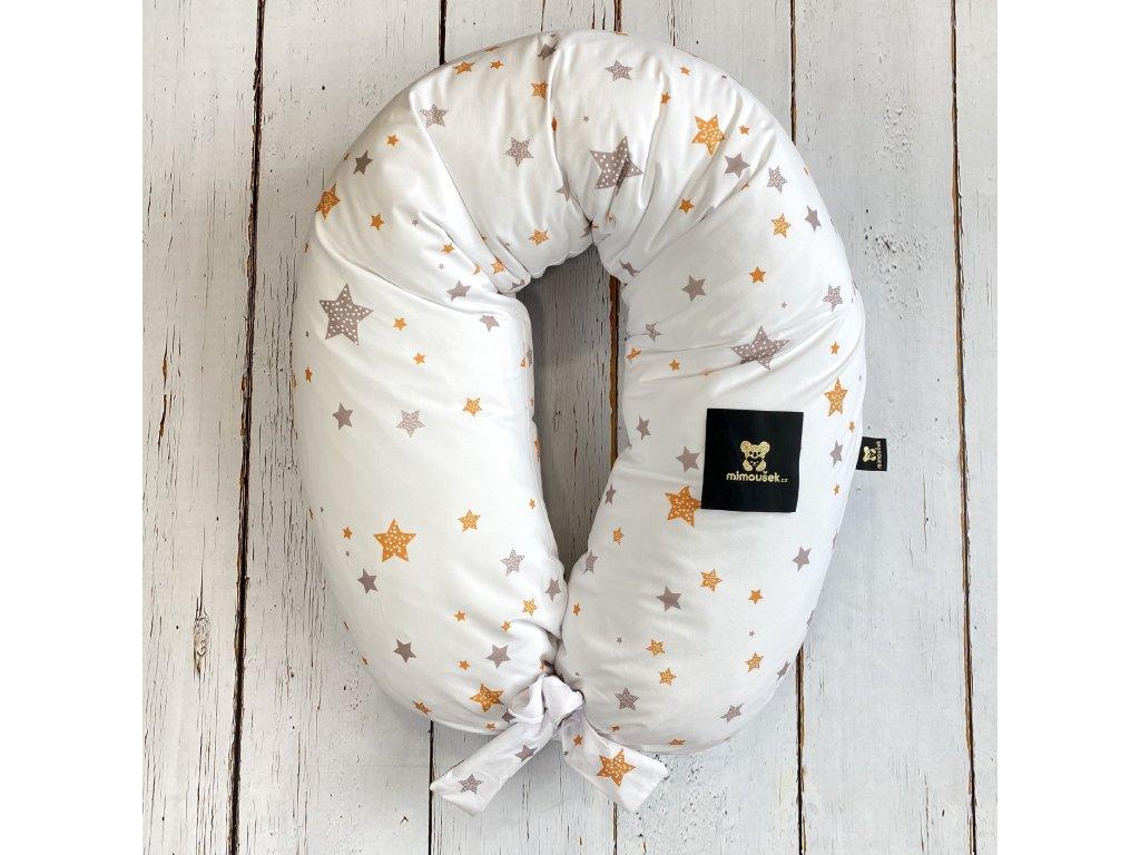 Kojící polštář MAXI printed barevné hvězdy 1