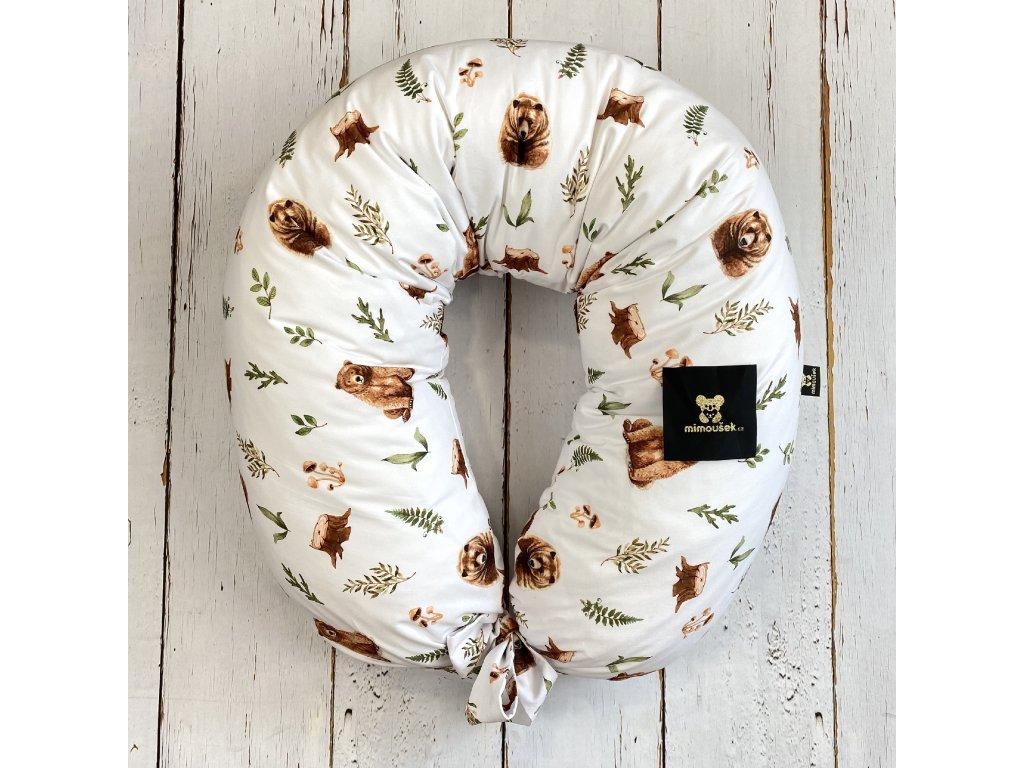 Kojící polštář MAXI printed medvěd