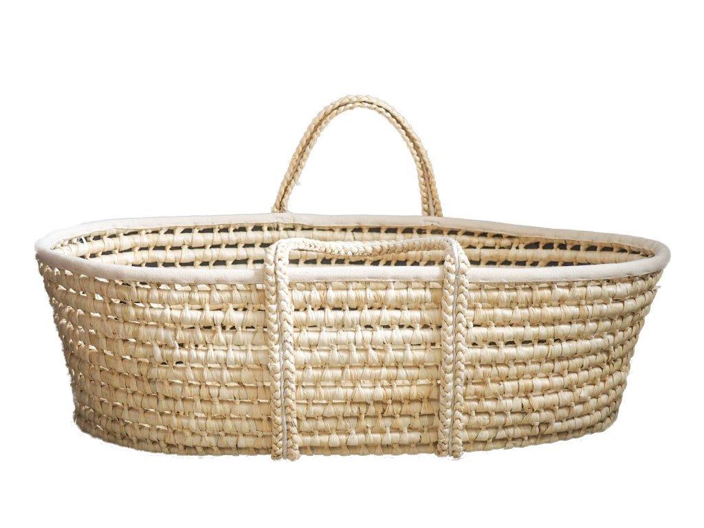 Ahojbaby Mojžíšův košík pro miminko Corn Natural + matrace