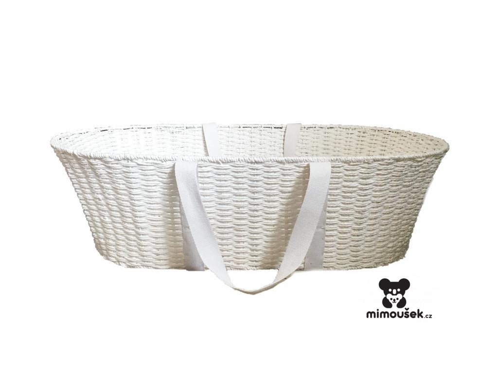 Ahojbaby Mojžíšův košík pro miminko Paper Dream white + matrace