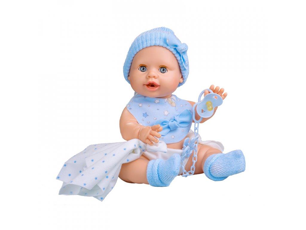 Berjuan Interaktivní panenka s příslušenstvím Baby Susú Azul chlapeček 38cm