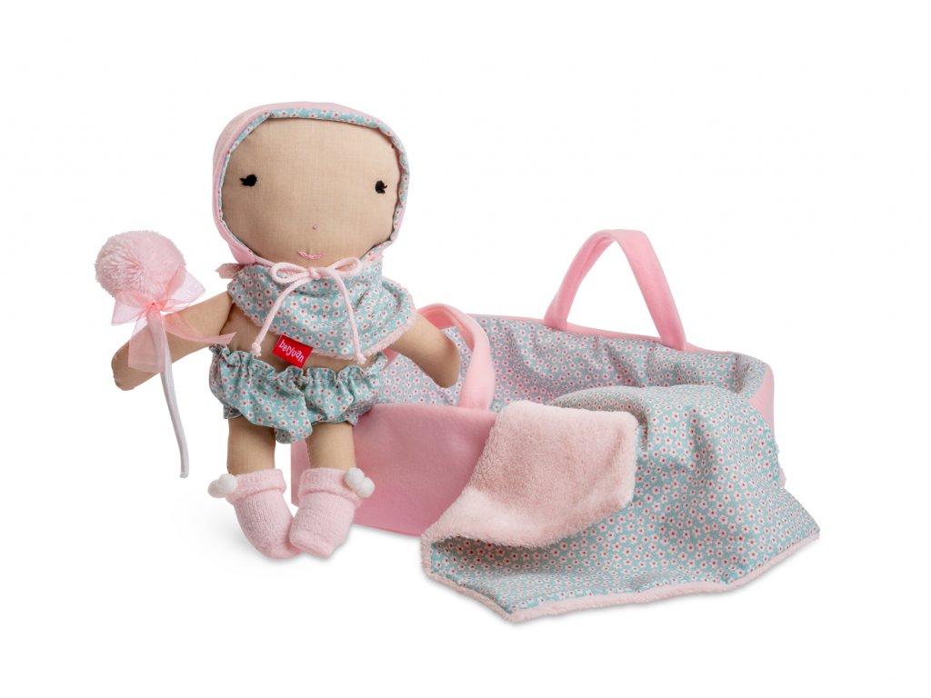 Berjuan látková panenka s příslušenstvím Primera Infancia 28cm