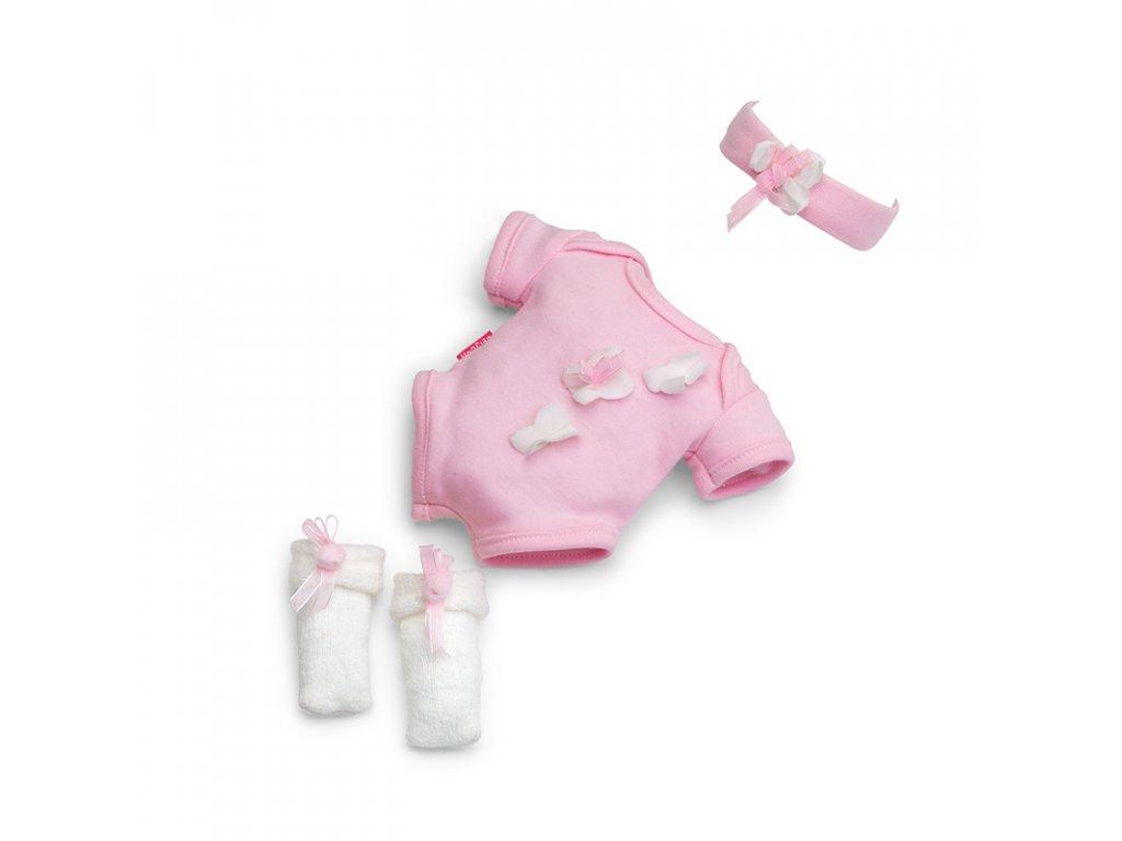 Berjuan Luxusní sada oblečků pro panenky Pijamita růžová 38cm