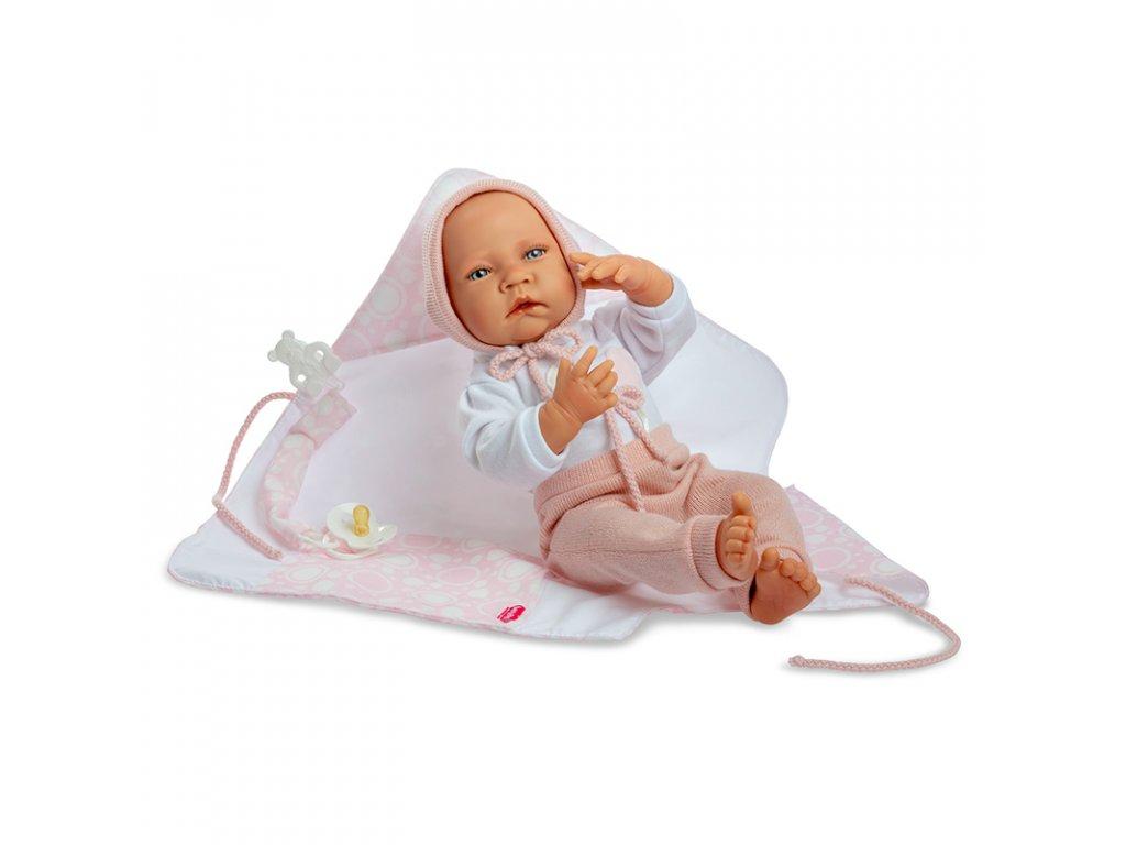 Berjuan panenka miminko Newborn Special Boutique Doll s příslušenstvím 45cm