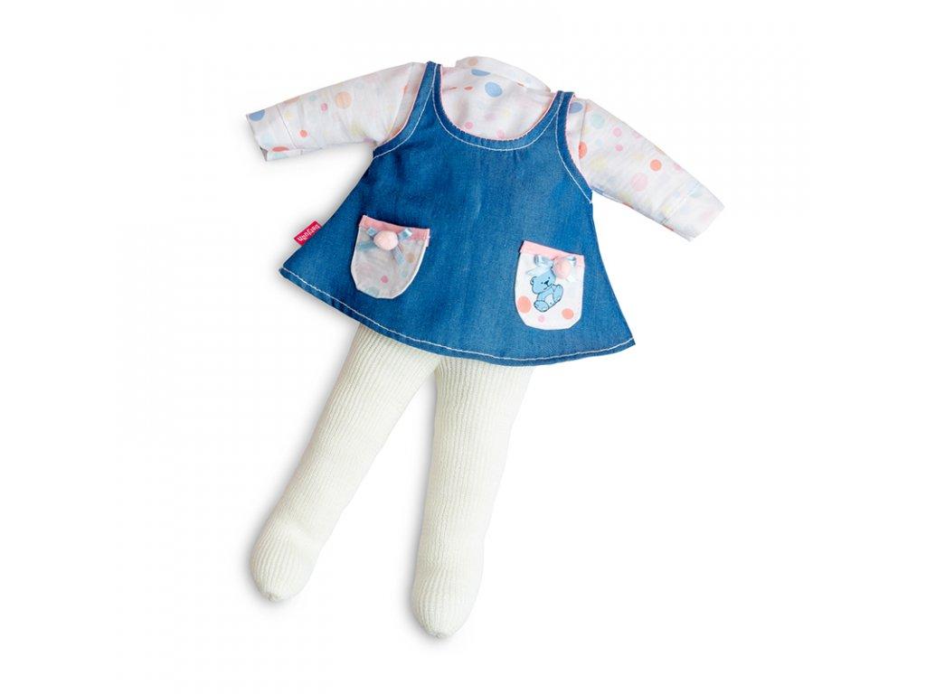 Berjuan Šatičky pro panenky Jeans Sport Azul 38cm