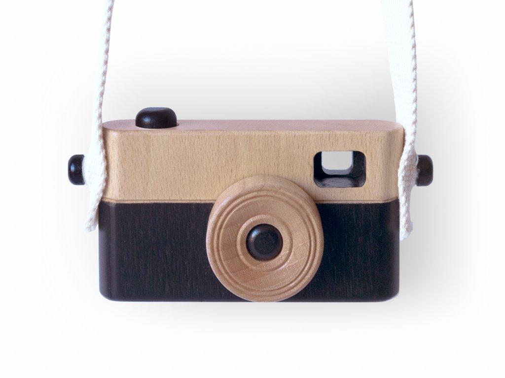 Dětský dřevěný fotoaparát PixFox černý by Craffox