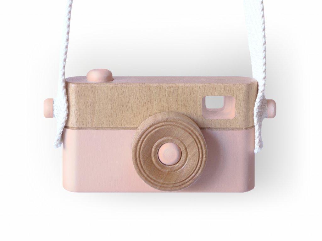 Dětský dřevěný fotoaparát PixFox růžový by Craffox
