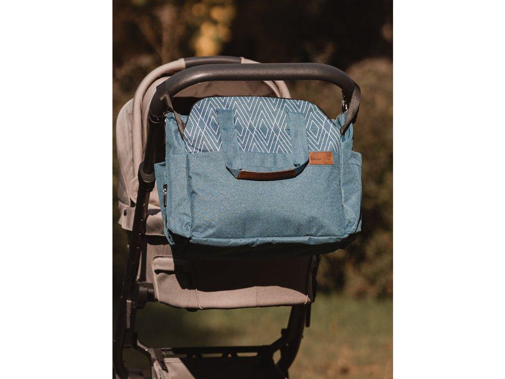 Kinder Hop Přebalovací taška na kočárek 2v1 Traveler Bag Ocean Turquoise