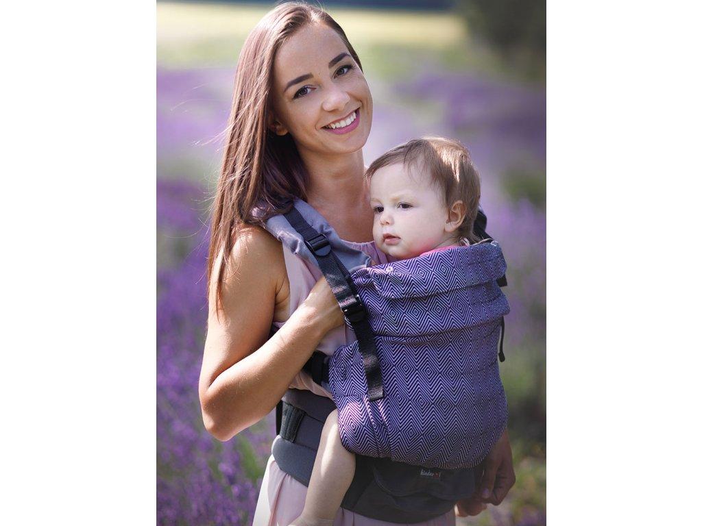 Kinder Hop Rostoucí ergonomické nosítko Multi Grow Diamond Lavender 100% bavlna, žakár