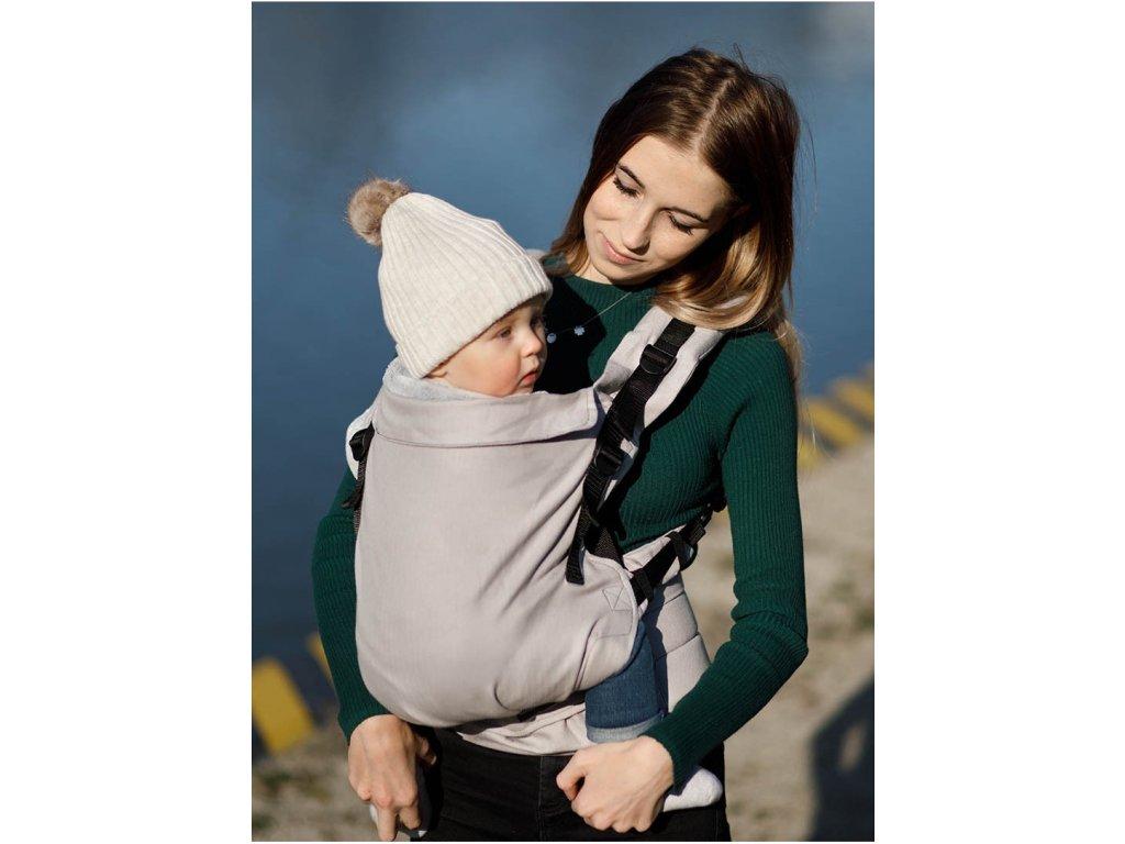 Kinder Hop Rostoucí ergonomické nosítko Multi Grow Little Herringbone Ecru 100% bavlna, žakár